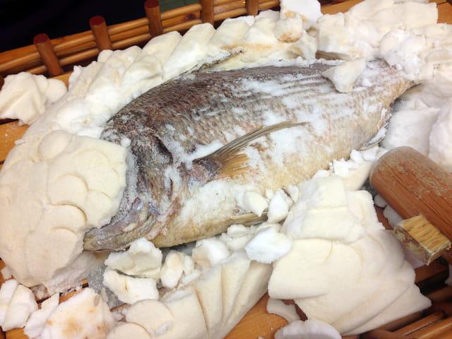 魚の塩窯焼